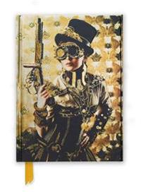Steampunk Lady Foiled Journal