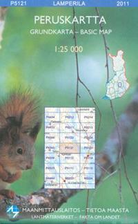Maastokartta P5121 Lamperila 1:25 000