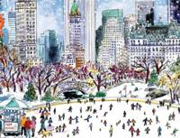 Michael Storrings Park Skaters Holiday Embellished Notecards