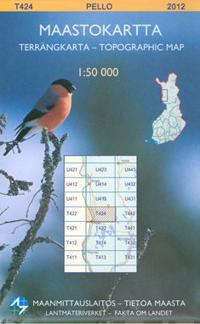 Maastokartta T424 Pello 1:50 000