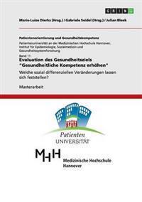 """Evaluation Des Gesundheitsziels """"Gesundheitliche Kompetenz Erhohen"""""""