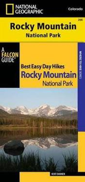 Best Easy Day Hiking Guide and National Geographic Trails Illustrated Topographic Map Rocky Mountain National Park