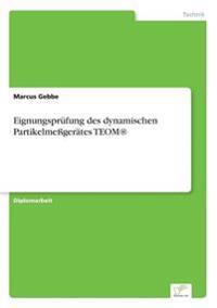 Eignungsprufung Des Dynamischen Partikelmessgerates Teom(r)