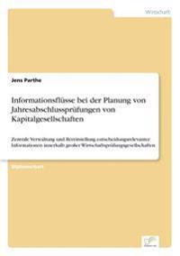 Informationsflusse Bei Der Planung Von Jahresabschlussprufungen Von Kapitalgesellschaften