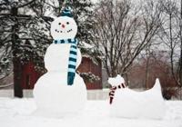 Snowman and Snow Dog