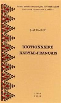 Dictionnaire Kabyle-Francais: Parler Des Ait Mangellat (Algerie). Ms1