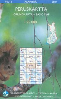 Maastokartta P5213 Alapitka 1 25 000 Kirjat Muu 9789514895197