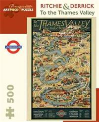 RitchieDerrick to the Thames Valley 500-Piece Jigsaw Puzzle Aa818