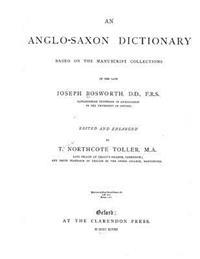 An Anglo-Saxon Dictionary