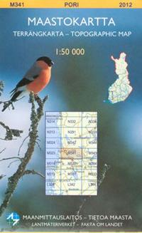 Maastokartta M341 Pori 1:50 000