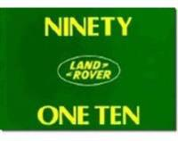 Land Rover 90 & 110 Owner Manual