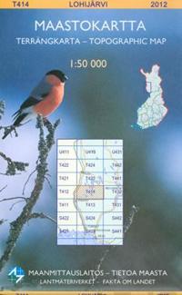 Maastokartta T414 Lohijärvi 1:50 000