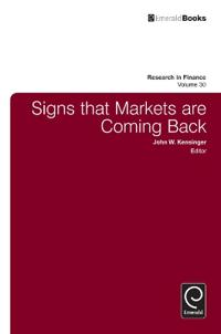 Signs That Markets Are Coming Back