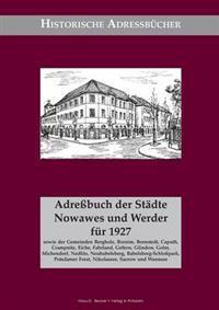 Adressbuch Nowawes Und Werder ... 1927