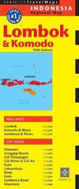 Periplus Travel Map Lombok & Komodo