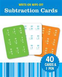 Write-On Wipe-Off Subtraction Cards