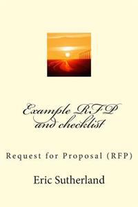 Example RFP and Checklist: Learn How to Do Request for Proposals