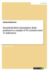 Household Final Consumption. Rank Positions in a Sample of 55 Countries (and 11 Indicators)