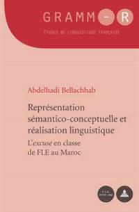 """Representation Semantico-Conceptuelle Et Realisation Linguistique: L'""""Excuse"""" En Classe de Fle Au Maroc"""