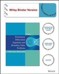 Elementary Differential Equations and Boundary Value Problems, Binder Ready Version