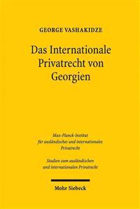 Das Internationale Privatrecht Von Georgien