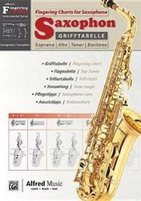 Grifftabelle Für Saxophon [fingering Charts for Saxophone]: German / English Language Edition, Chart