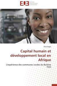 Capital Humain Et Developpement Local En Afrique
