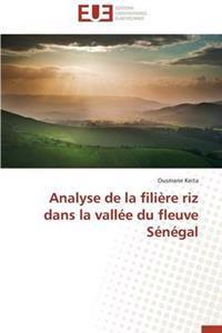 Analyse de La Filiere Riz Dans La Vallee Du Fleuve Senegal