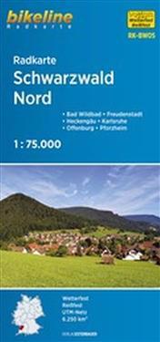 Bikeline Radkarte Schwarzwald Nord 1 : 75 000