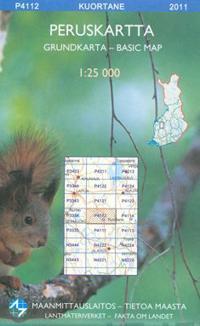 Maastokartta P4112 Kuortane 1:25 000