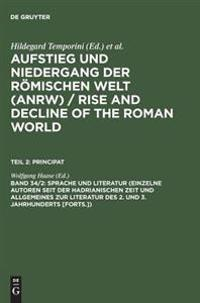 Aufstieg and Niedergang Der Roemischen Welt - Rise and Decline of the Roman World, Teil Ii, Principat, Band 34-2