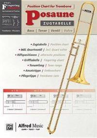 Zugtabelle Für Posaune [position Charts for Trombone]: German / English Language Edition, Chart