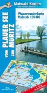 Plauer See = Wasserwanderkarte vom Plauer See zur Müritz - Die Mecklenburg Vorpommersche Groß-Seenplatte - mit ausführlichen Anglerinformationen - vom Angler für den Angler