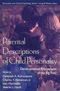 Parental Descriptions of Child Personality