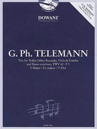 Telemann: Trio for Treble (Alto) Recorder, Viola Da Gamba and Basso Continuo, TWV 42: F3, F Major/Fa Majeur/F-Dur [With CD (Audio)]