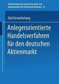 Anlegerorientierte Handelsverfahren F r Den Deutschen Aktienmarkt