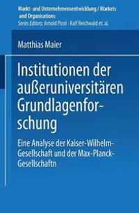 Institutionen Der Ausseruniversitären Grundlagenforschung