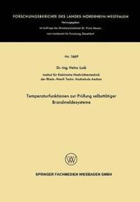 Temperaturfunktionen Zur Pr fung Selbstt tiger Brandmeldesysteme