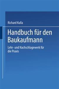 Handbuch für den Baukaufmann