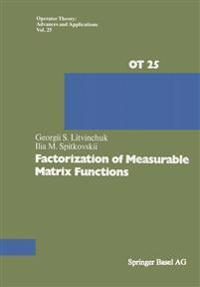 Factorization of Measurable Matrix Functions