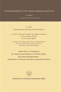 Systematik Zur Anpassung Der Materialbeschaffung an Veränderungen Des Beschaffungsmarktes