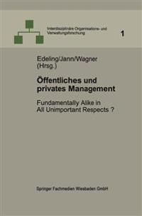 Öffentliches Und Privates Management