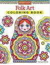 Folk Art Adult Coloring Book