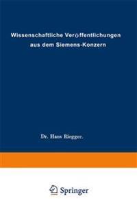 Wissenschaftliche Veroffentlichungen Aus Dem Siemens-Konzern