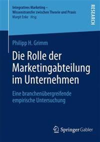Die Rolle Der Marketingabteilung Im Unternehmen