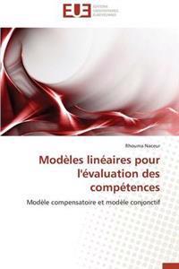 Modeles Lineaires Pour L'Evaluation Des Competences