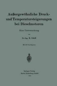 Au ergew hnliche Druck- Und Temperatursteigerungen Bei Dieselmotoren
