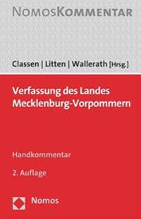 Verfassung Des Landes Mecklenburg-Vorpommern: Handkommentar