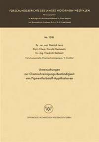 Untersuchungen zur Chemischreinigungs-Beständigkeit von Pigmentfarbstoff-Applikationen