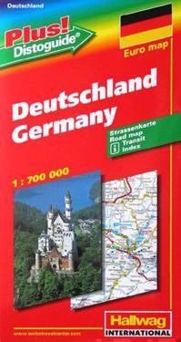 Tyskland Hallwag karta : 1:700000